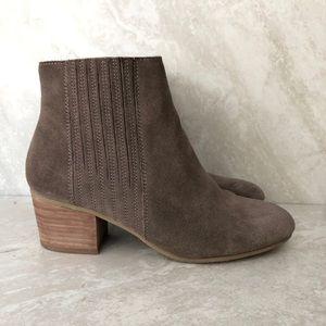 Crown Vintage Ankle Boots Stacked Block Heel 6.5